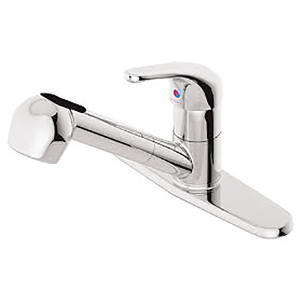 Symmons Pull Out Spray Single Handle Kitchen Faucet